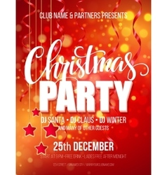 Merry Christmas Party Poster vector image vector image