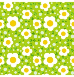 Pattern with bold and stylized flowers vector image vector image