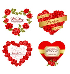 Roses frames vector image