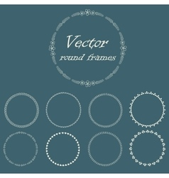 Round frame with decorative branch vector image vector image