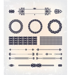 set of abstract beautiful pattern design vector image