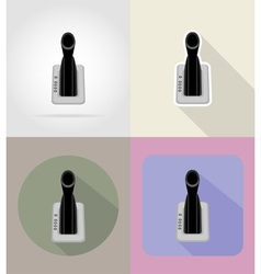 car equipment flat icons 04 vector image vector image