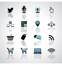 Internet-business icons vector image vector image