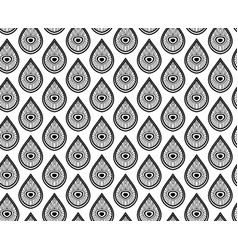 seamless monochrome pattern with drops vector image vector image