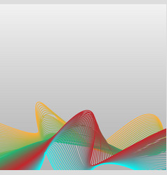 Abstract colorful wave curve line background vector