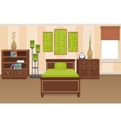 Bedroom Interior Concept vector image vector image