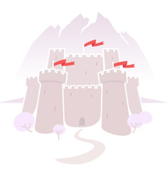 castle in the mountains vector image vector image