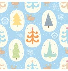 Christmas tree seamless pattern vector image