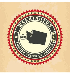 Vintage label-sticker cards of Washington vector image vector image