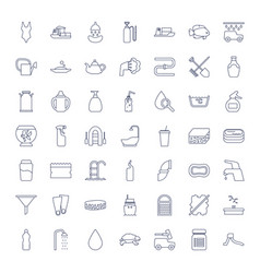 49 water icons vector