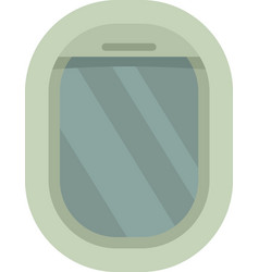 Aircraft repair window icon flat isolated vector