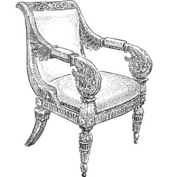Antique chair vector