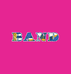 Band concept word art vector
