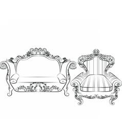 Baroque imperial luxury furniture vector