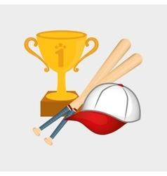 baseball cup hat bats vector image
