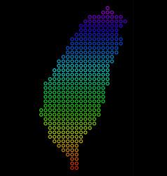 bright taiwan island map vector image