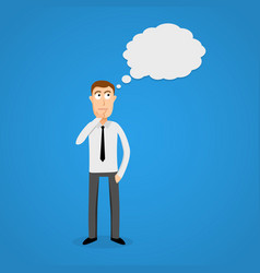Business man with thinking cloud vector