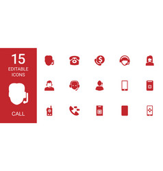 Call icons vector