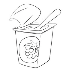 Cartoon image of yogurt vector