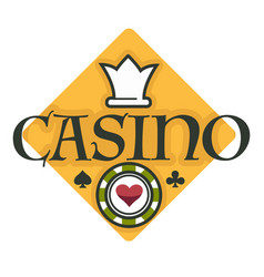 casino club gambling isolated icon poker chip vector image