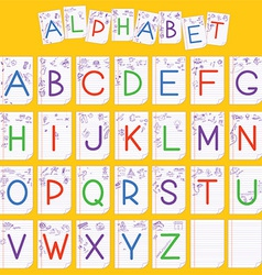 Child English alphabet vector image