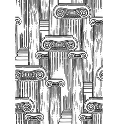 Classical pattern of ancient columns drawn vector