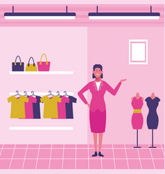 Clothing store staff vector