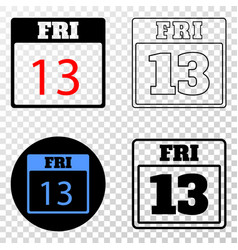 Collage of gradiented dotted 13 friday calendar vector