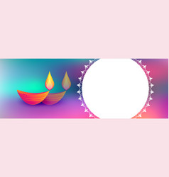 Colorful happy diwali festival background with vector