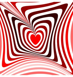 Design heart twisting movement background vector image