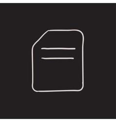 Document sketch icon vector image