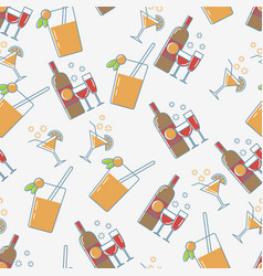 Drink seamless pattern vector