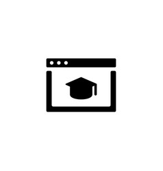 e-learning icon vector image