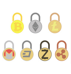 Electronic security lock icon disign vector