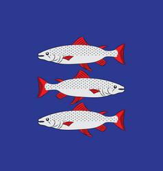 Flag angermanland sweden vector