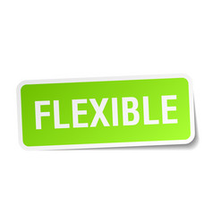 Flexible square sticker on white vector