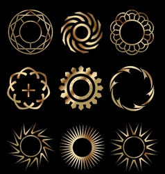 Gold design elements 1 vector image