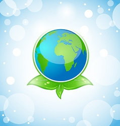 Green Earth Eco Concept vector image