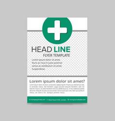 Green medical flyer layout template brochure vector