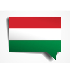 Hungary paper 3d realistic speech bubble on white vector