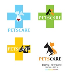 Icons Petscare vector image