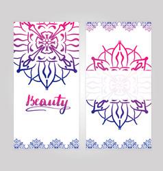 indian style vertical flyer set vector image