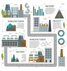 Industrial Buildings Infographic vector