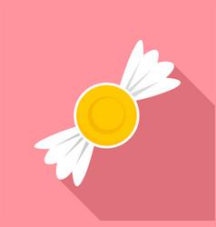 Lemon bonbon icon flat style vector