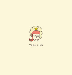 Logo for the vape clubprincess and smoke vector