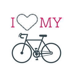 Love bike card 3 vector image