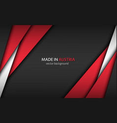 Made in austria modern background with austrian vector