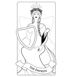 major arcana tarot cards the empress beautiful vector image