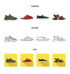 Man and foot symbol vector