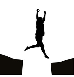 man jumping over a gap vector image